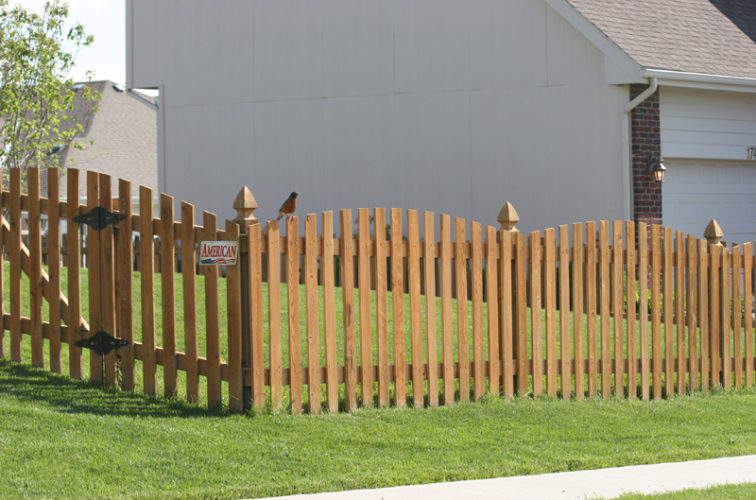 AFC Iowa City - Wood Fencing, 1001 4' overscallop picket