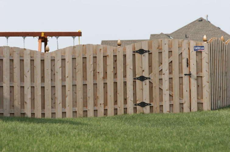 AFC Iowa City - Wood Fencing, 1017 Board-on-board Overscallop