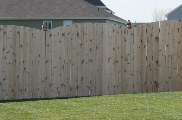 AFC Iowa City - Wood Fencing, 1020 Wood 6' overscallop solid