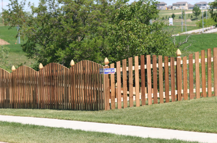 AFC Iowa City - Wood Fencing, 1024 4' overscallop picket