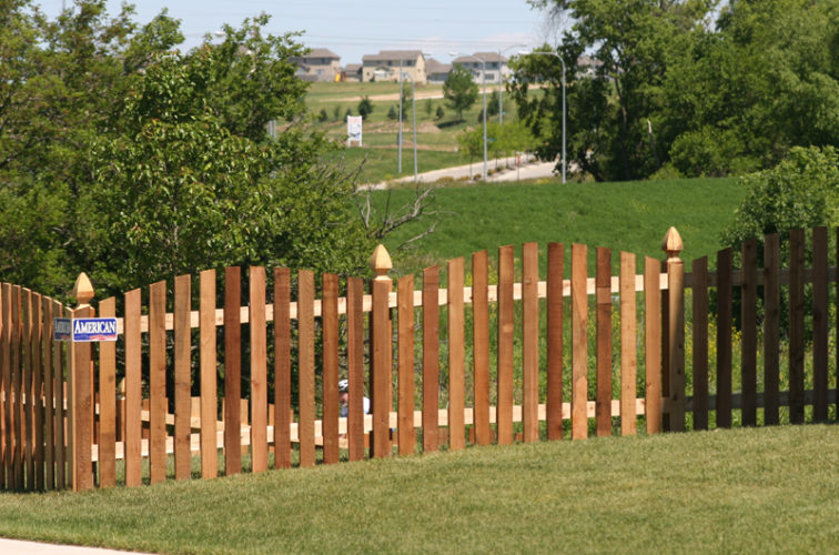 AFC Iowa City - Wood Fencing, 1025 4' Overscallop Picket