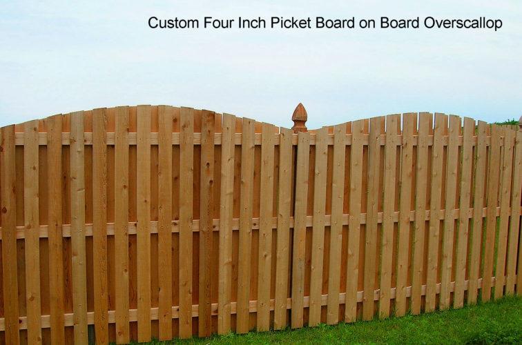 AFC Iowa City - Wood Fencing, 1048 1x4x4 Board on Board overscallop