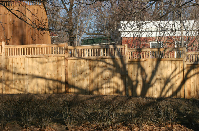 AFC Iowa City - Wood Fencing, 1053 Custom Solid with Accent Top