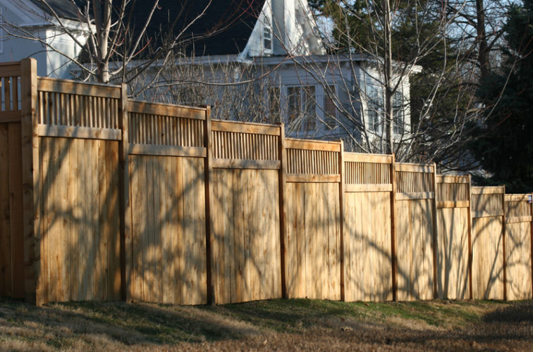 AFC Iowa City - Wood Fencing, 1057 Custom Solid with Accent Top
