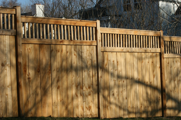 AFC Iowa City - Wood Fencing, 1058 Custom Solid with Accent Top