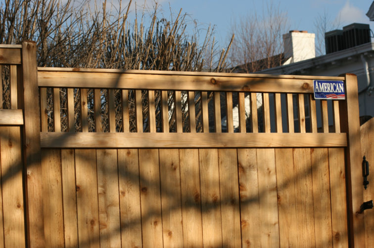 AFC Iowa City - Wood Fencing, 1059 Custom Solid with Accent Top