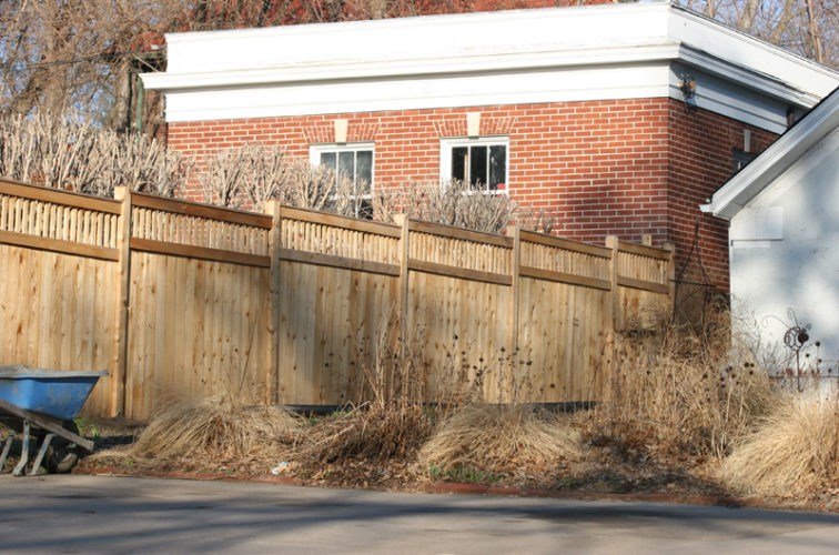 AFC Iowa City - Wood Fencing, 1061 Custom Solid with Accent Top