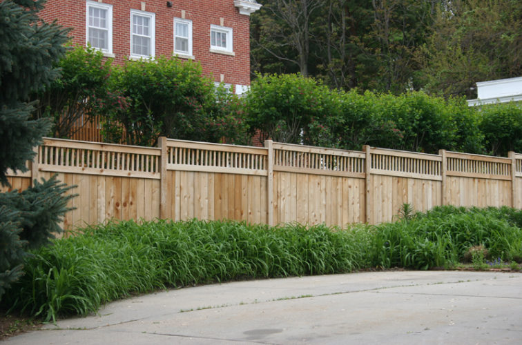 AFC Iowa City - Wood Fencing, 1063 Custom Solid with Accent Top