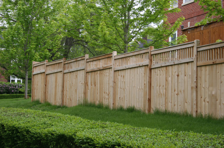 AFC Iowa City - Wood Fencing, 1064 Custom Solid with Accent Top