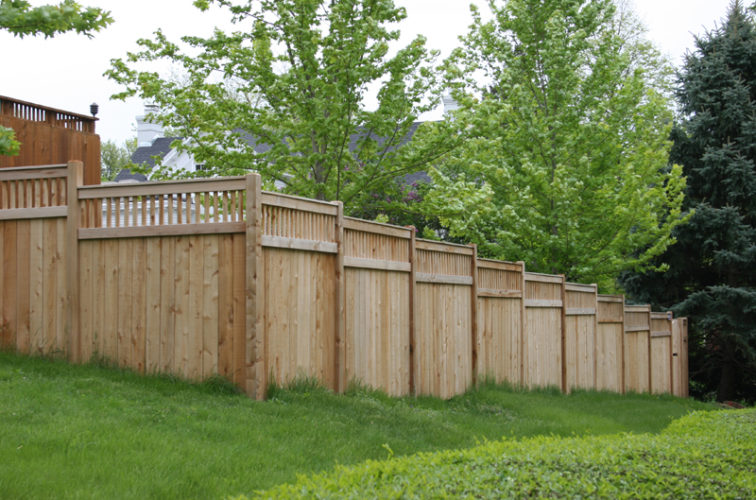 AFC Iowa City - Wood Fencing, 1069 Custom Solid with Accent Top