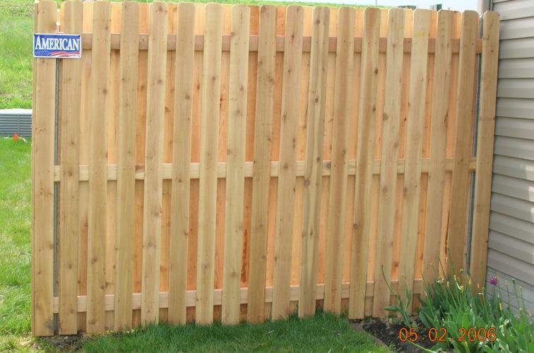 AFC Iowa City - Wood Fencing, 1071 6' BOB 1x4