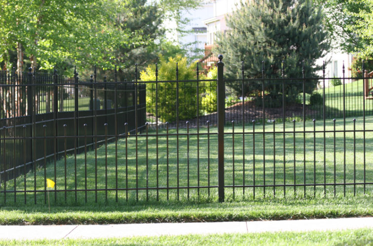 AFC Iowa City - Custom Iron Gate Fencing, 1204 Alternating pickets with balls and quadflare