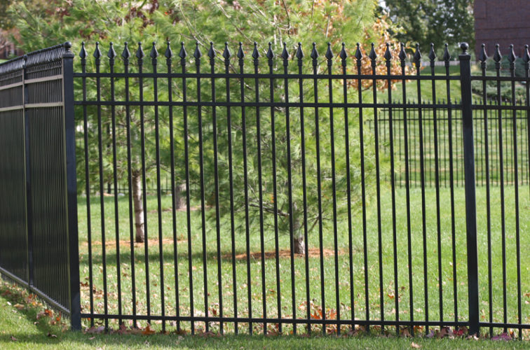 AFC Iowa City - Custom Iron Gate Fencing, 1207 Classic Quad Flame Ornamental Iron