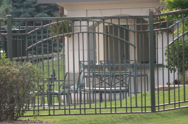 AFC Iowa City - Custom Iron Gate Fencing, 1210 Overscallop in panel