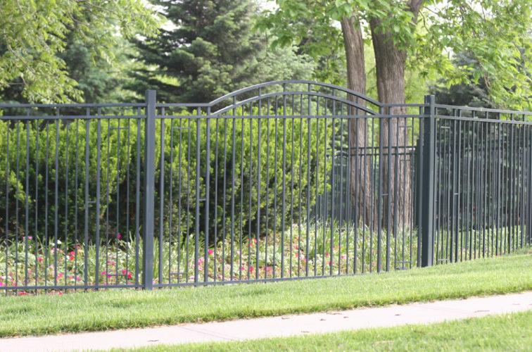 AFC Iowa City - Custom Iron Gate Fencing, 1215 Overscallop panel