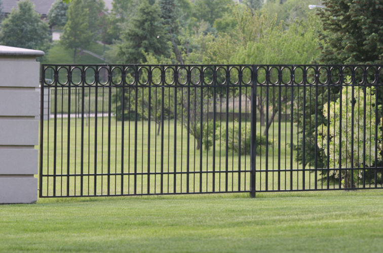 AFC Iowa City - Custom Iron Gate Fencing, 1216 Alternating Picket with Ovals