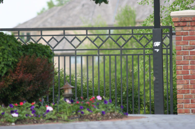 AFC Iowa City - Custom Iron Gate Fencing, 1218 Mulitple Diamond Accent