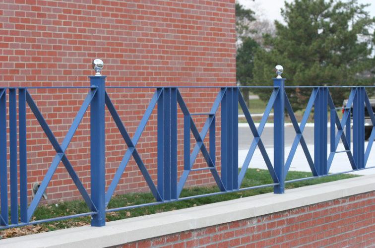 AFC Iowa City - Custom Iron Gate Fencing, 1219 Flat Bar crossing pattern