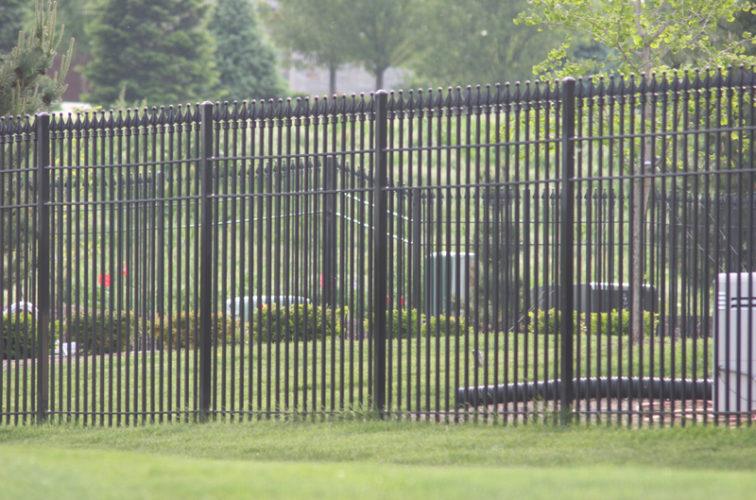 AFC Iowa City - Custom Iron Gate Fencing, 1221 Quad flare straight picket