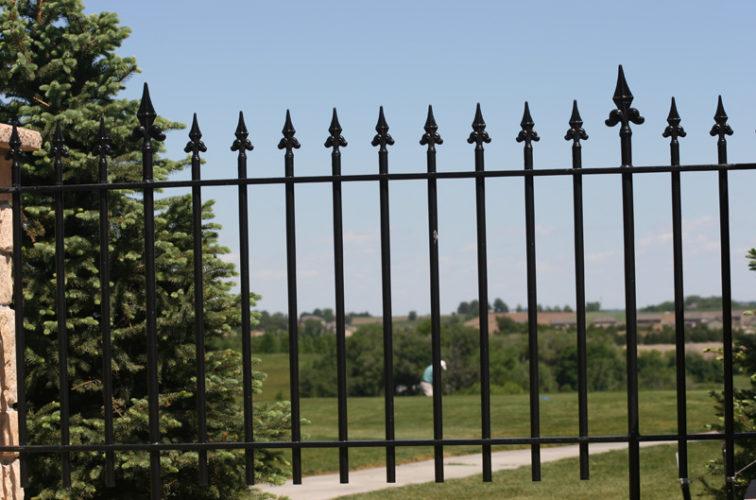 AFC Iowa City - Custom Iron Gate Fencing, 1224 Flor de Lis Picket 3'
