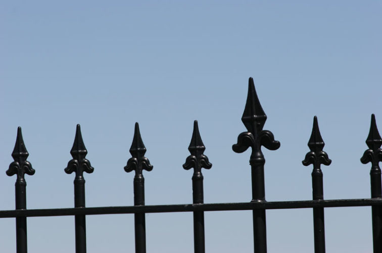 AFC Iowa City - Custom Iron Gate Fencing, 1225 Flor de Lis close-up