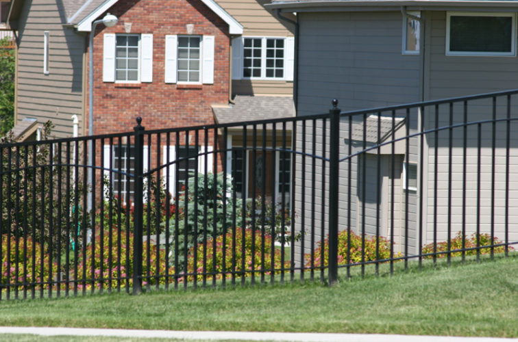 AFC Iowa City - Custom Iron Gate Fencing, 1226 6' with underscallop in square panel