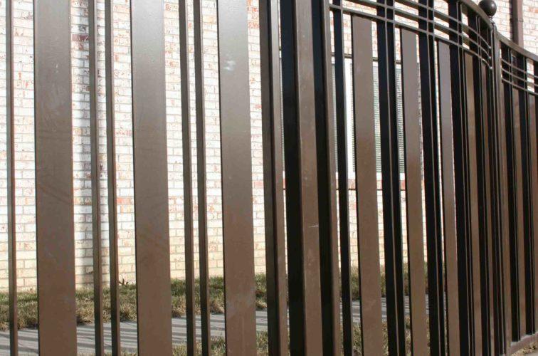 AFC Iowa City - Custom Iron Gate Fencing, 1247 Checker Board Fence 1