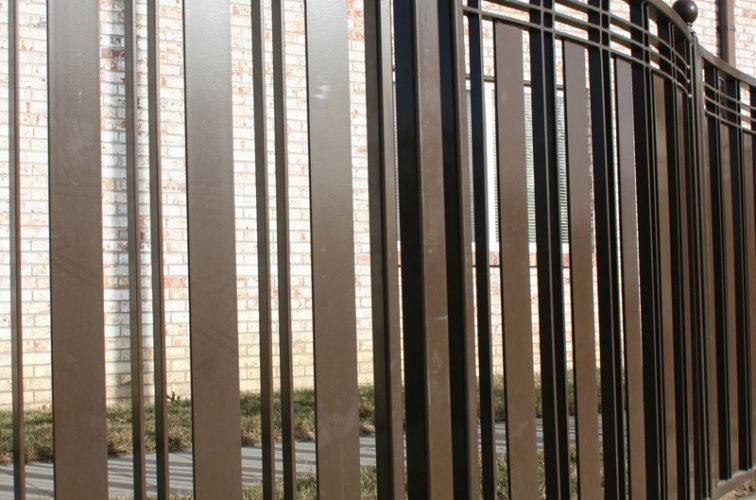 AFC Iowa City - Custom Iron Gate Fencing, 1247 Checker Board Fence