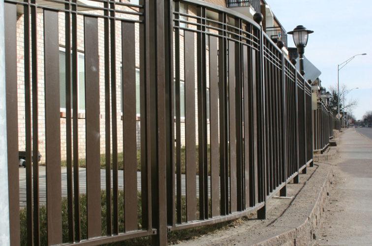 AFC Iowa City - Custom Iron Gate Fencing, 1248 Checker Board Fence