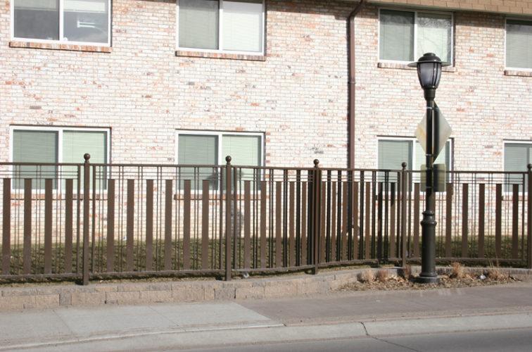 AFC Iowa City - Custom Iron Gate Fencing, 1249 Checker Board Fence