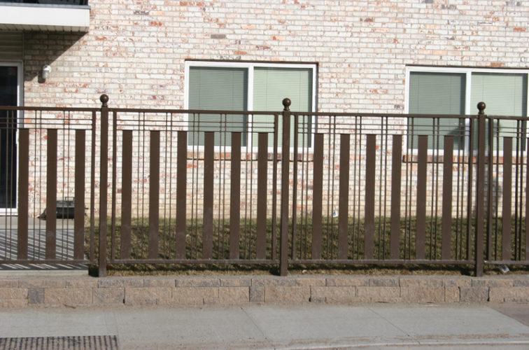 AFC Iowa City - Custom Iron Gate Fencing, 1250 Checker Board Fence