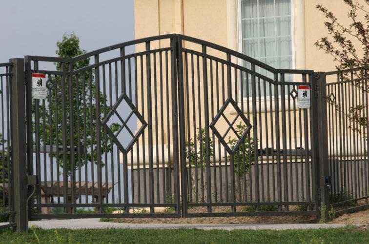 AFC Iowa City - Custom Gates, 1304 Estate gate with diamonds
