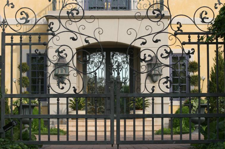 AFC Iowa City - Custom Gates, 1305 Estate gate with heavy scroll work