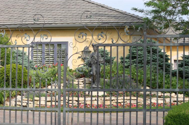 AFC Iowa City - Custom Gates, 1306 Estate gate with heavy scroll work