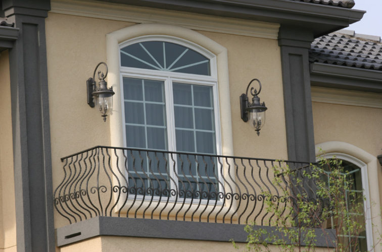 AFC Iowa City - Custom Railing, 2200 Balcony handrail with pot belly pickets