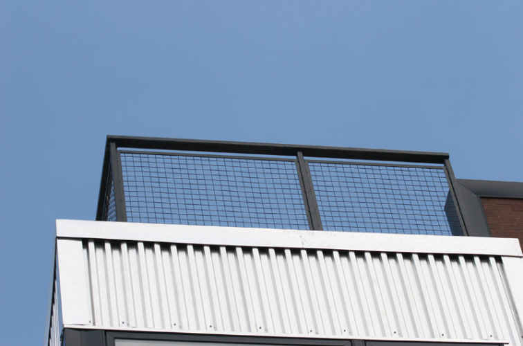AFC Iowa City - Custom Railing, 2206 Railing with mesh infill