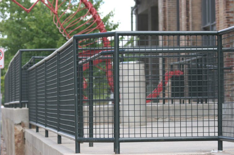 AFC Iowa City - Custom Railing, 2207 Railing with heavy mesh infill