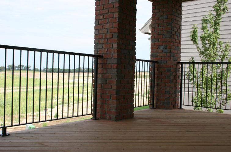 AFC Iowa City - Custom Railing, 2210 Deck railing