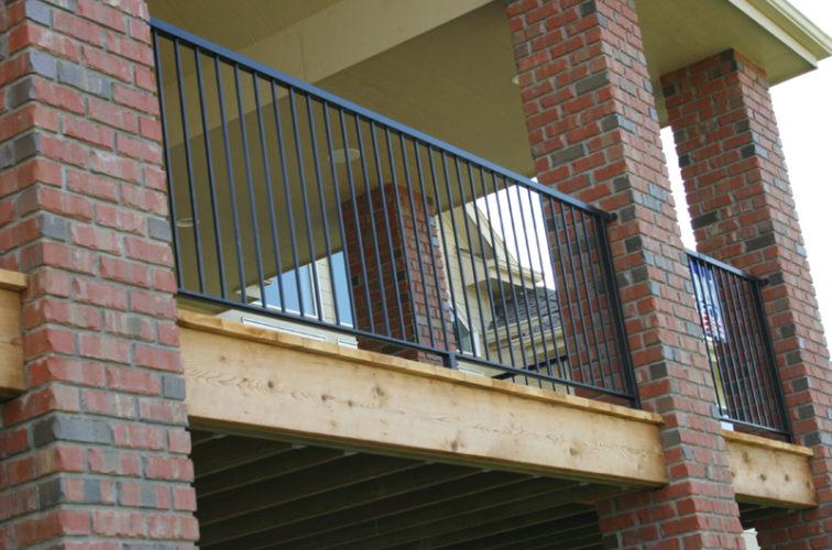 AFC Iowa City - Custom Railing, 2214 Deck Railing