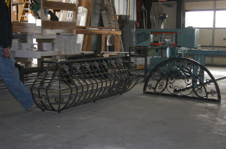 AFC Iowa City - Custom Railing, 2217 Balcony Railing In Fabrication