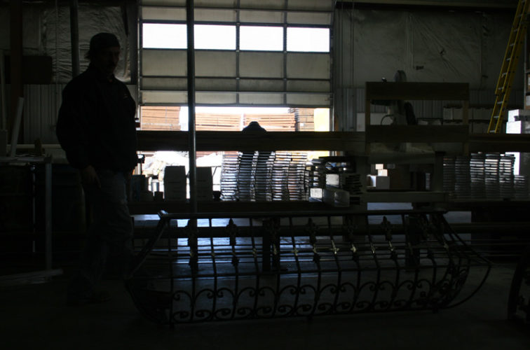 AFC Iowa City - Custom Railing, 2218 Balcony Railing in Fabrication