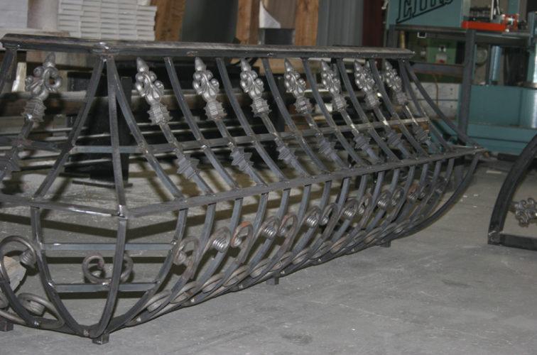 AFC Iowa City - Custom Railing, 2219 Balcony Railing in Fabrication
