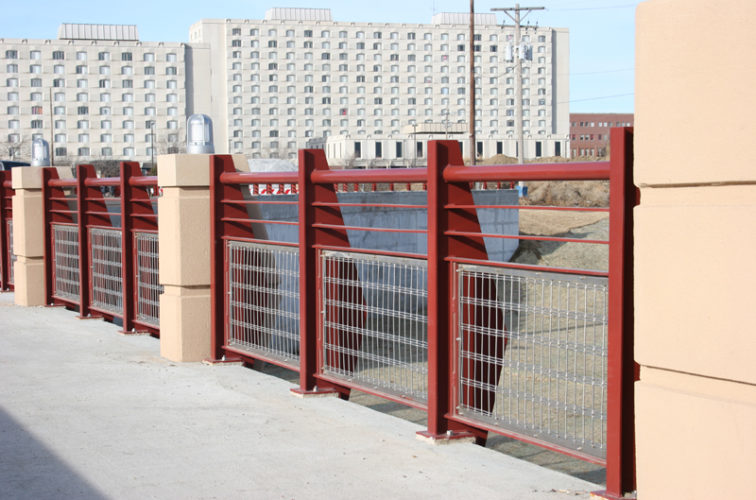 AFC Iowa City - Custom Railing, 2223 Stainless in-fill Railing