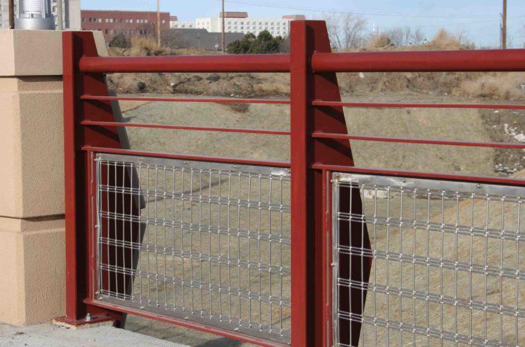 AFC Iowa City - Custom Railing, 2224 Stainless Steel In-fill Railing