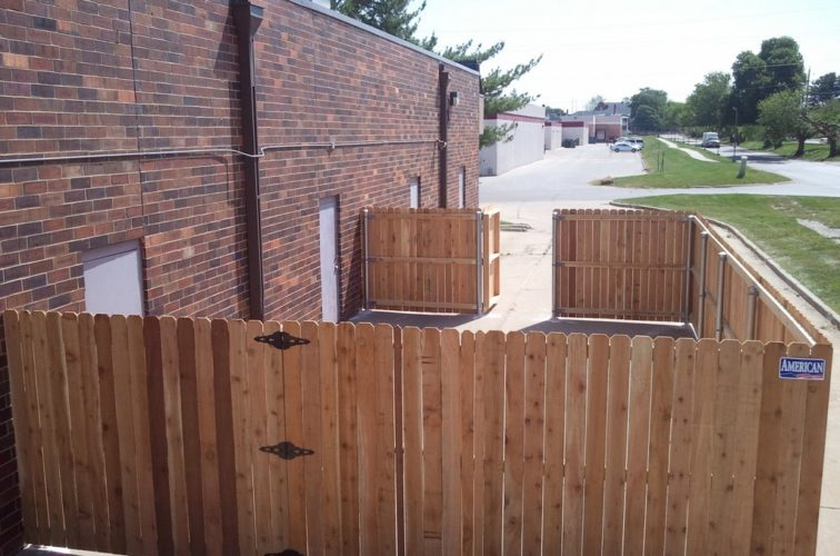 AFC Iowa City - Wood Fencing, 6' Solid Wood with Steel Posts - AFC - IA