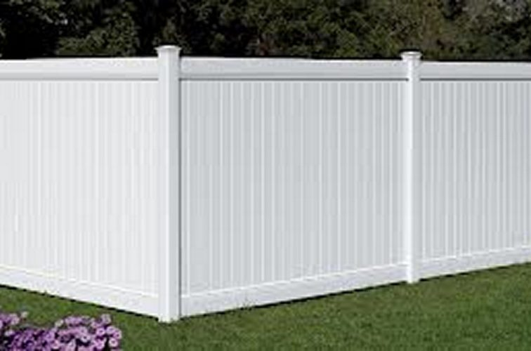 AFC Iowa City - Vinyl Fencing, 6' White Polid Privacy PVC - AFC - IA