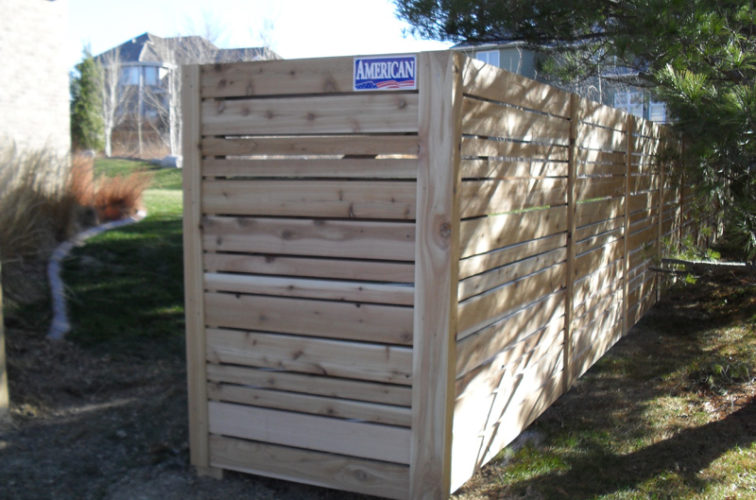 AFC Iowa City - Wood Fencing, 6' Horizontal Wood White A
