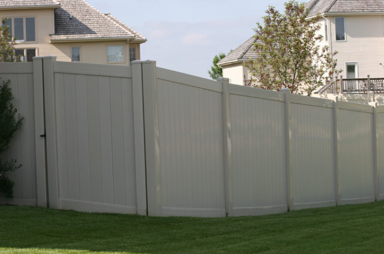 AFC Iowa City - Vinyl Fencing, 6' solid privacy tan (620)
