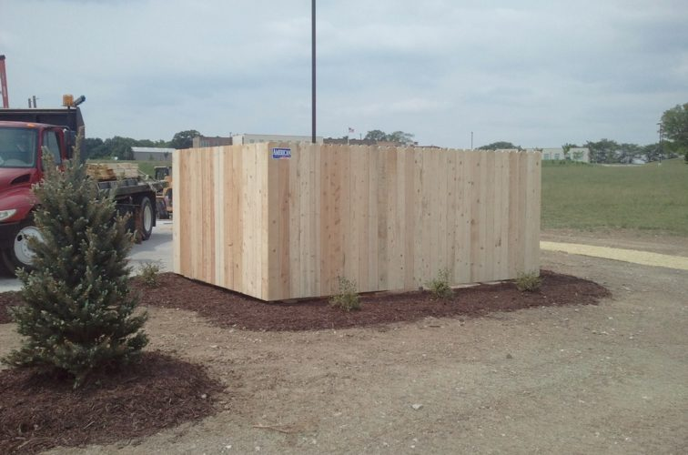 AFC Iowa City - Wood Fencing, 6' Solid Dumpster Enclosure - AFC - IA