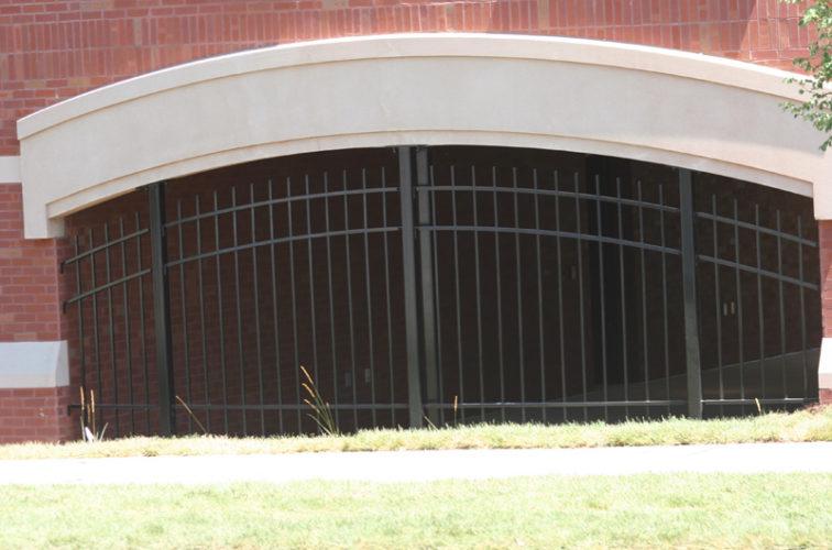 AFC Iowa City - Custom Iron Gate Fencing, Arched Ornamental